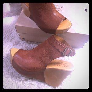 Kork-Ease Berit wedge sandals in size 10 - Brown